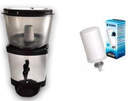 Filtro Para Água Inox Com Base De Barro Com Vela + Vela extra cerâmica com carvão ativado