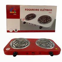 Fogão Fogareiro Elétrico Portátil 2 Bocas 2000w 110v Vermelho
