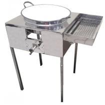 Fogão Pasteleiro Fritador de Pastel Inox com Escorredor com Tacho número 18 - R0091 R2