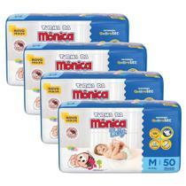 Fralda Turma da Mônica Baby Tam. M - 4 a 9kg - Kit com 200 Unidades