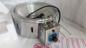Fritadeira elétrica profissional/Tacho elétrico alumínio 4 litros 2500watts/Fritador elétrico