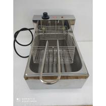 Fritador elétrico industrial cuba 6 litros frango salgados