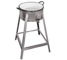 Fritador Fogão Pasteleiro Á Gás Inox Alta Pressão com Tacho nº 20 Cefaz