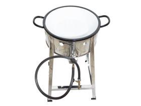 Fritador Fogão Pasteleiro INOX A Gás Com Tacho 14