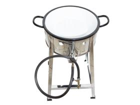 Fritador Fogão Pasteleiro INOX A Gás Com Tacho 22