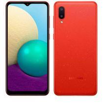 """Galaxy A02 Vermelho, com Tela Infinita de 6,5"""", 4G, 32GB e Câmera Dupla de 13MP + 2MP - SM-A022MZRJZTO"""