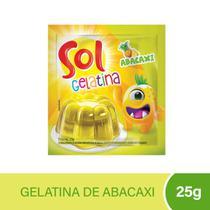 Gelatina Sol Abacaxi 25g