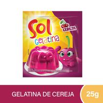 Gelatina Sol Cereja 25g