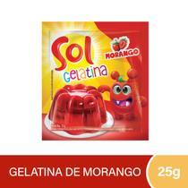 Gelatina Sol Morango 25g