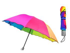 Guarda Chuva Arco Iris Colorido Grande 120cm 10 Varetas