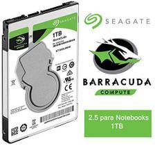 HD INTERNO Notebook Seagate BarraCuda, 1TB, 2.5, SATA - ST1000LM048