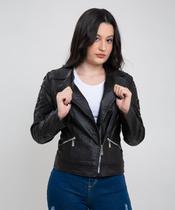 jaqueta biker feminina preta