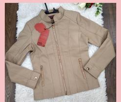 jaqueta de couro cinético feminina