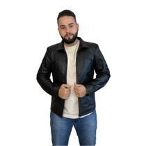 Jaqueta de couro masculina tradicional 125 preta