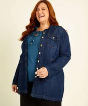 Jaqueta Feminina Parka Plus Size Jeans