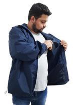 Jaqueta Forro Corta Vento Plus Size Grande Semi Impermeavel - Azul escuro - Butu Biru-G3