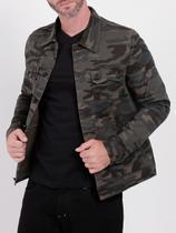 Jaqueta Jeans Camuflada Bivik Masculina Verde Militar