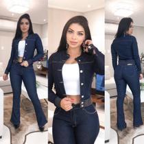 Jaqueta Jeans Feminina Escura
