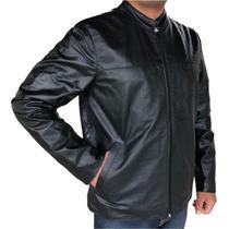 Jaqueta masculina slim de couro macio - kesck couro