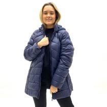 Jaqueta parka city lady nylon plush plus size feminina