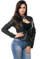 Jaqueta Parra Couros feminina GP cor preto tamanho M