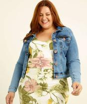 Jaqueta Plus Size Feminina Jeans Razon