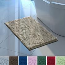 Jogo 3 Tapetes Microfibra Antiderrapante 50 x 70cm Banheiro Quarto Bolinha Super Macio Corttex