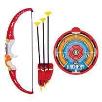 Jogo Arco E Flecha Sports Porta Flechas Brinquedo Dm Toys
