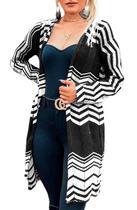 Kimono Casaco Cardigan Reto Aberto Luxo - Heloísa