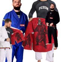 Kimono Jiu Jitsu Trançado 100% Forrado Tokugawa Pezom e Faixa