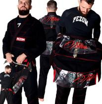 Kimono Jiu Jitsu Trançado 50% Forrado Tattoo Pezom e Faixa