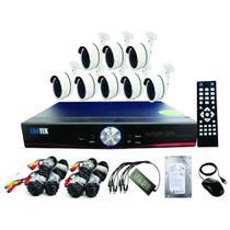 kit 08 câmeras de segurança DVR 8 canais com HD 500 GB - Marca LUATEK