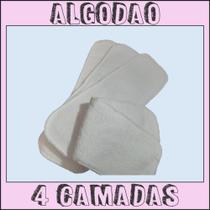 Kit 10 absorvente de algodão estilo microfibra para fralda ecológica