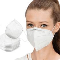 Kit 10 Máscara De Proteção Hospitalar Pff2 N95 Com Clip Nasal Padrão KN95