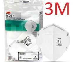 Kit 10 Máscaras PFF2 3M Hospitalar 9920H com registro Anvisa e selo inmetro CA 17611 n95