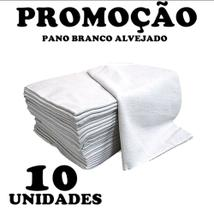 Kit 10 Pano De Chão Branco (saco alvejado) Limpeza Domestica