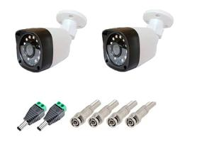 kit 2 Câmera Bullet 4x1 Hd 720p Lente 2,8mm Infra 20 Metros Citrox + Conectores