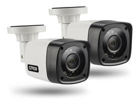 kit 2 Câmera Bullet 4x1 Hd 720p Lente 2,8mm Infra 20 Metros Citrox