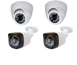 Kit 2 Câmeras internas e 2 externas com Infra vermelho Hd alta Resolução