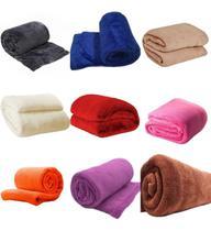 Kit 2 Cobertores Manta Casal Anti Alergica Lisas