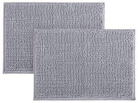 Kit 2 Tapetes de Bolinha em Microfibra Macio Banheiro