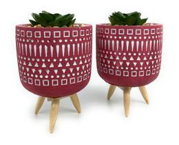 Kit 2 Vasos Planta Decorativo Sala  Escritório Estante Vaso Cimento
