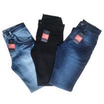 Kit 3 Calças Jeans Elastano Premium
