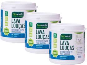 Kit 3 Lava Louças em Pó para Máquina Natural Vegano Biowash