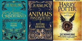 KIT 3 LIVRO Animais fantásticos crime Grindelwald + Animais Fantásticos Onde Habitam + Harry Potter criança amaldiçoada
