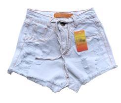 Kit 3 Shorts Jeans Feminino Atacado Cintura Alta Hot Pants