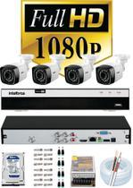 Kit 4 Câmeras de Segurança Full Hd 1080p 2 Megapixel Leds Infra + Dvr Intelbras Mhdx 3104 Full Hd