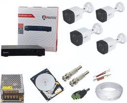 kit 4 câmeras infra vermelho hd, Gravador DVR 4 canais com HD 160 gb