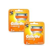 Kit 4 Cargas Gillette Fusion 5