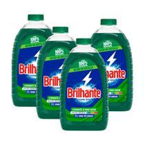 Kit 4 Lava-Roupas Líquido Brilhante Higiene Total 3l